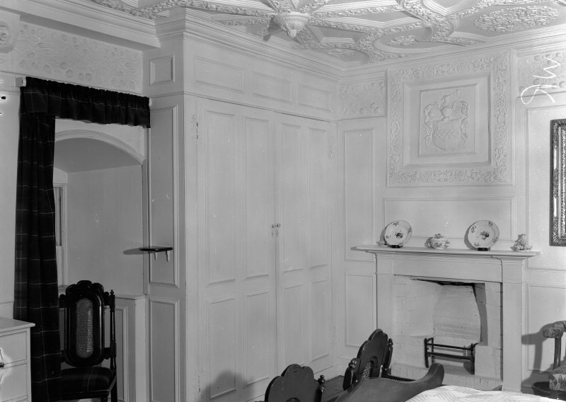 Interior view of Craigievar Castle showing White Room.