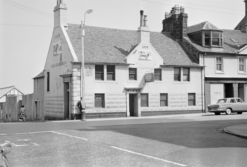 View of the Black Bull Inn, 72 High Street, Johnstone, from S.