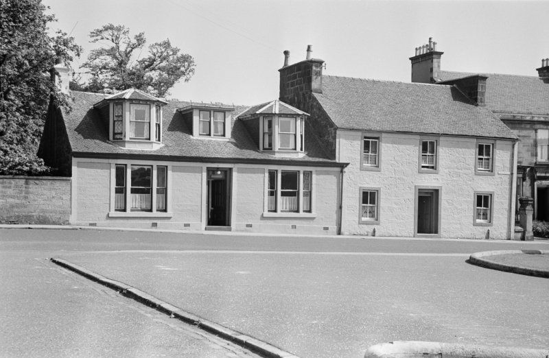 General view of buildings on William Street, Johnstone.