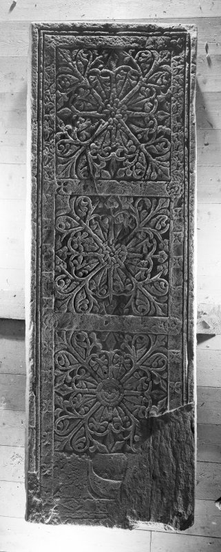 Detail of medieval grave slab, Iona School, c.1500-1560. Inventory No. 267 (14)