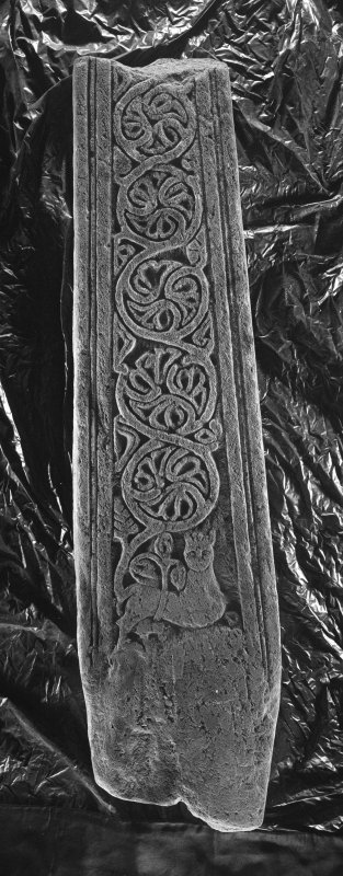 Lower part (back) of the shaft of a free standing medieval  cross, Iona School, 14th-15th century