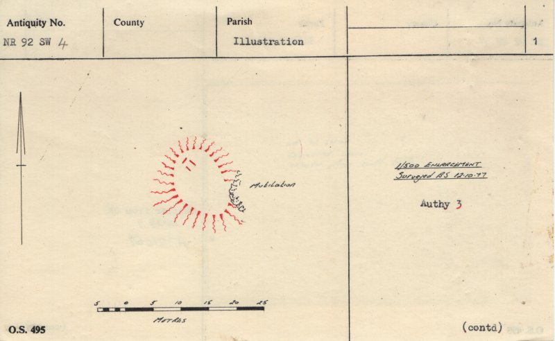 Plan, copied from Ordnance Survey Record Card