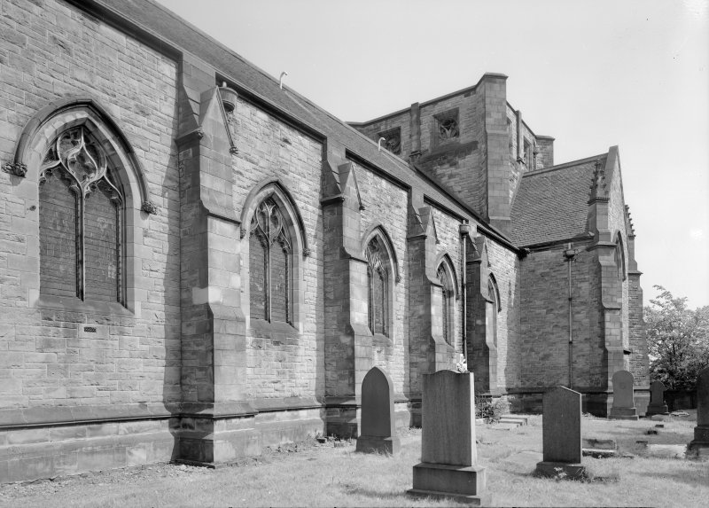 View of Inchinnan Old Parish Church and churchyard.