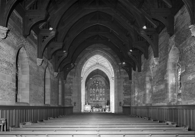 Interior view of Inchinnan Old Parish Church.