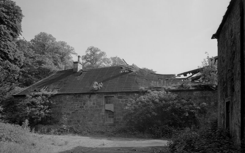 View of collapsed roof, Donibristle House stables.