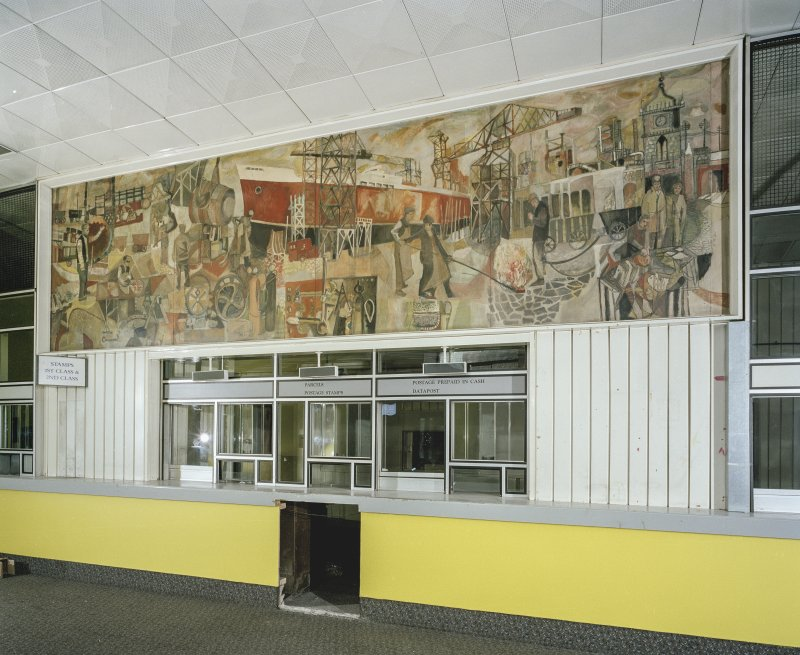 Ground floor, counter area, detail of mural