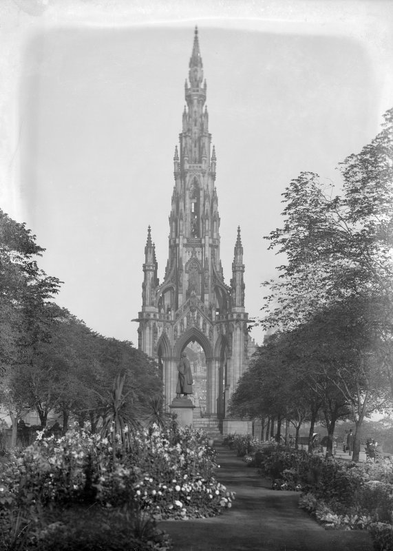 View from west of the Scott Monument, Princes Street, Edinburgh.