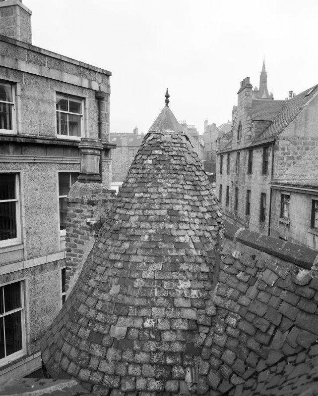 Detail of tower slating, Wallace Tower (Benholm's Tower), Netherkirkgate, Aberdeen.