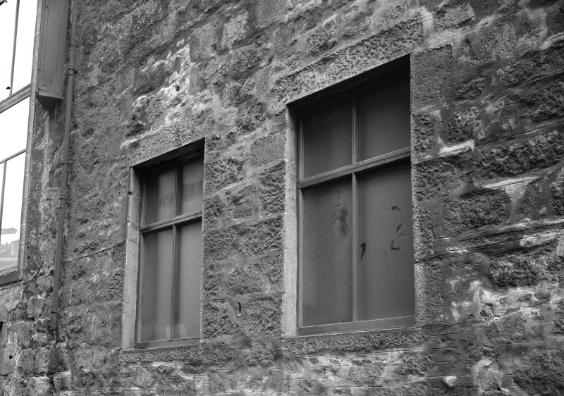 View of windows, Wallace Tower (Benholm's Tower), Netherkirkgate, Aberdeen.
