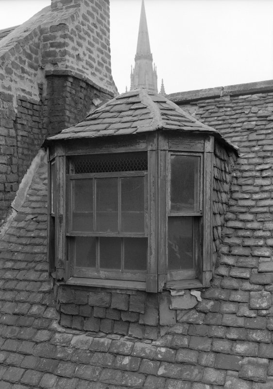 Detail of roof with dormer, Wallace Tower (Benholm's Tower), Netherkirkgate, Aberdeen.