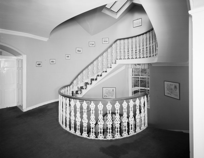 Interior. View of first floor staircase.