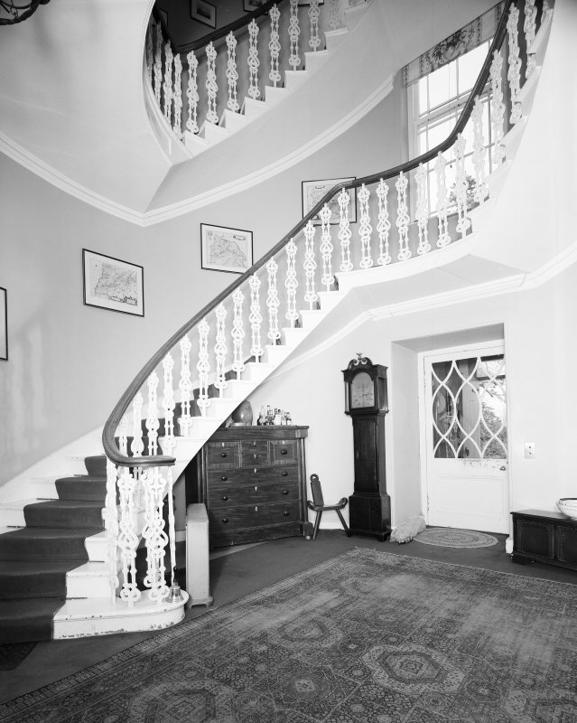 Interior. View of ground floor staircase.