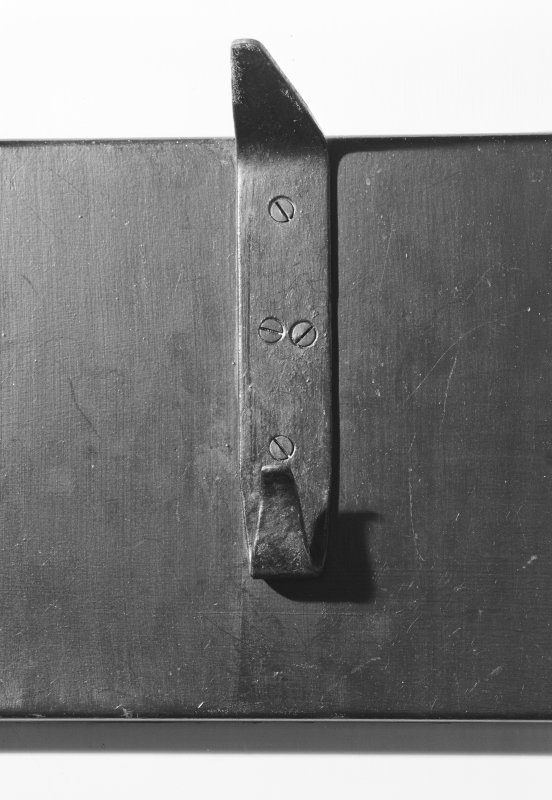 Hill House, interior Detail of iron coat-peg, cloakroom, ground floor