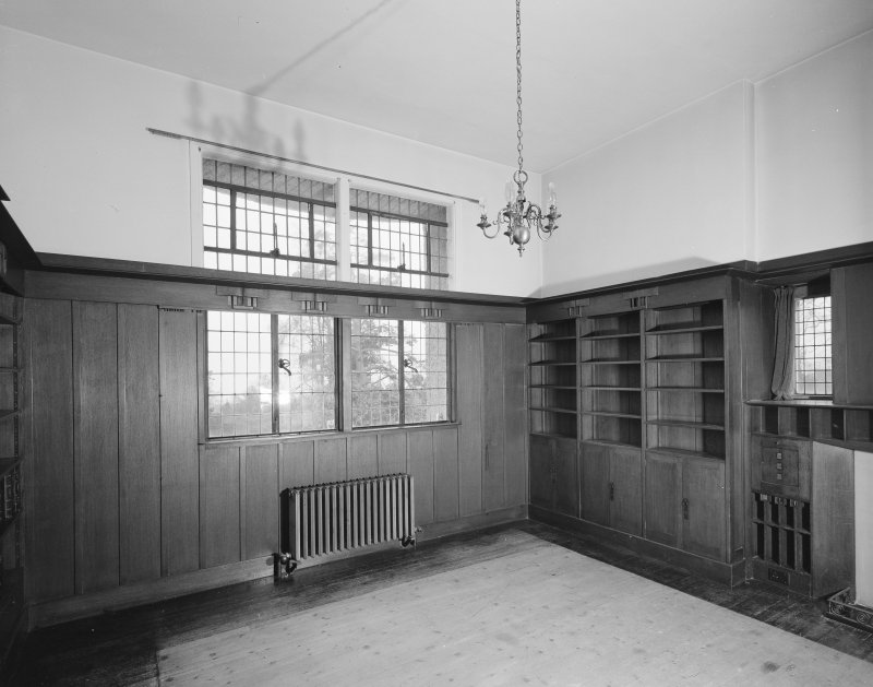 Hill House, interior View of Library from North East