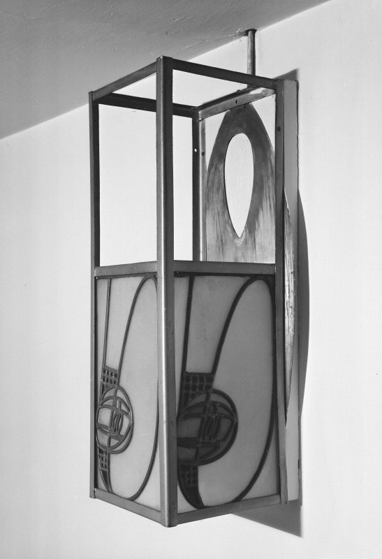 Hill House, Helensburgh. Interior. Detail of lantern, drawing room