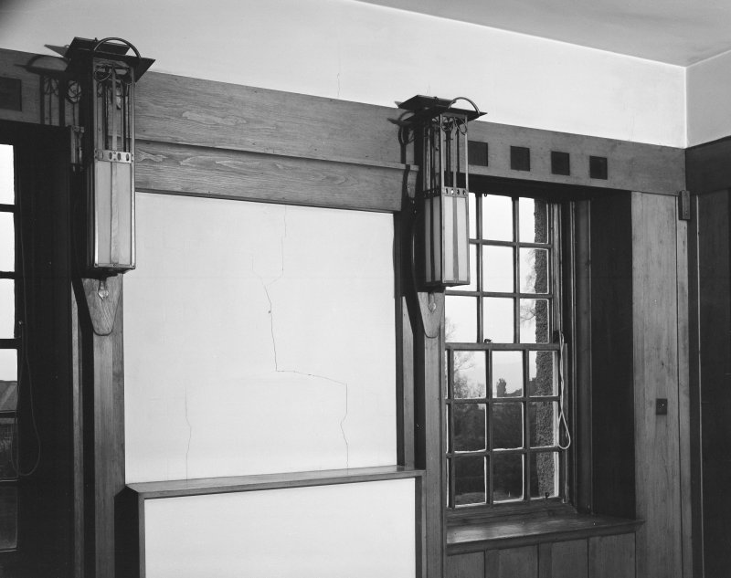 Hill House, interior Detail of lanterns and window head, dining room