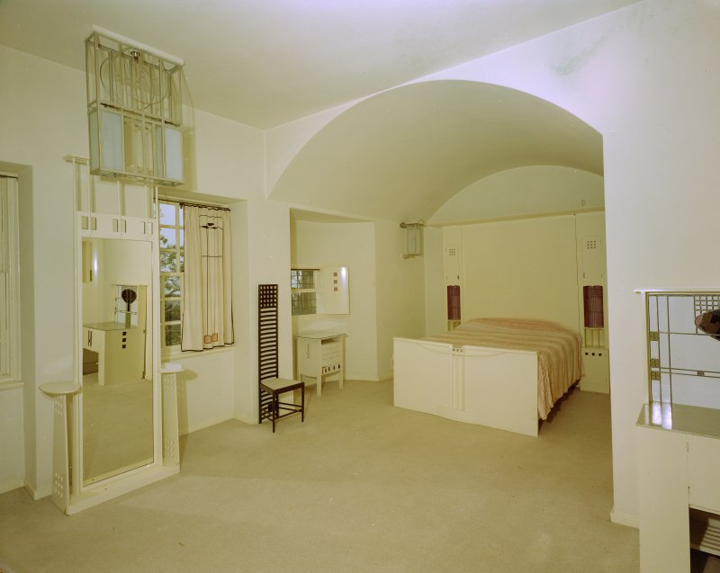 Hill House, interior View of principal bedroom from NE.