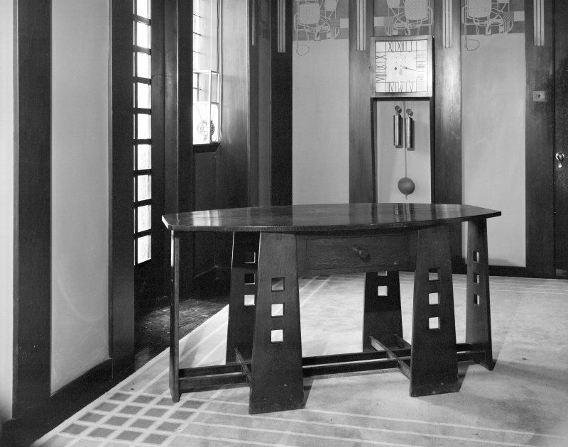 Hill House, interior General view of table, hall