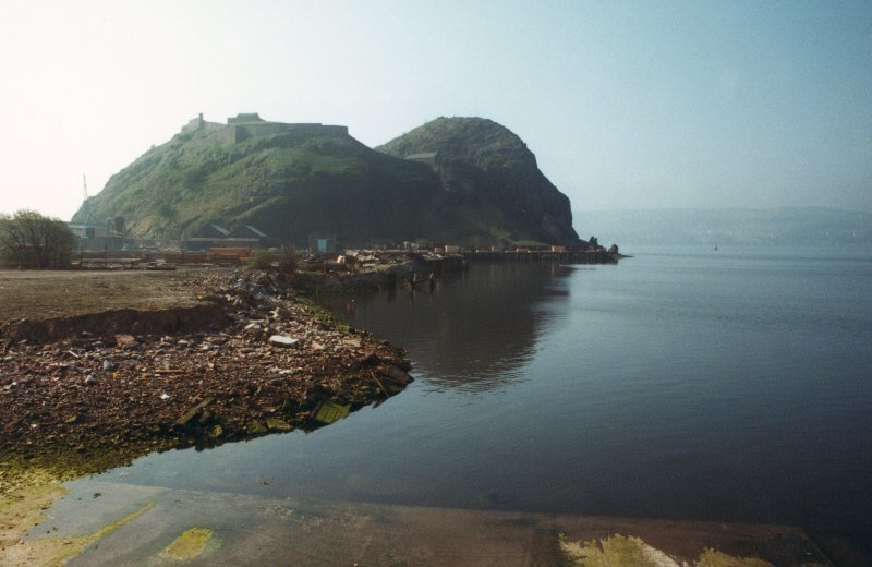 Dumbarton Castle General view, looking SE