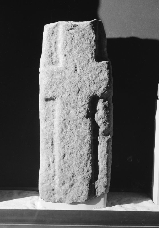 View of cross-slab fragment Tarbat 19 at Portmahomack.