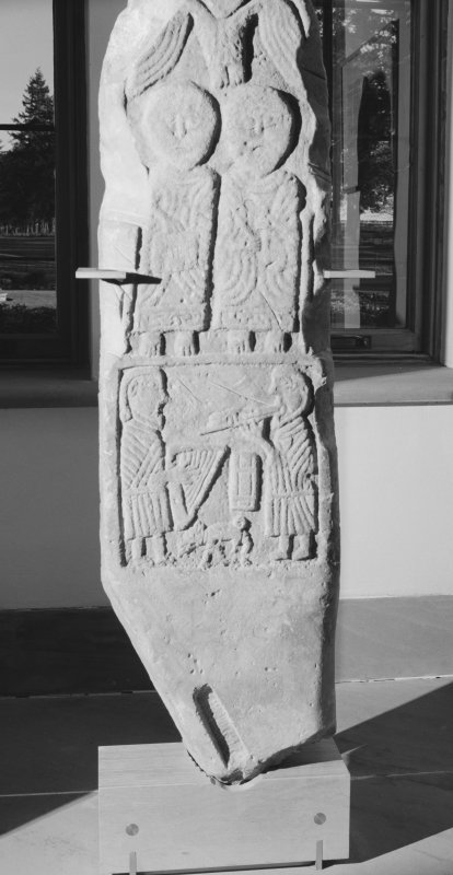 View of face C of the Pictish cross slab at Tower of Lethendy.