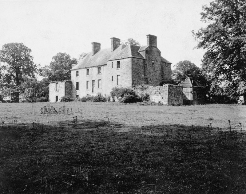 Brucefield Photographic view of rear before restoration