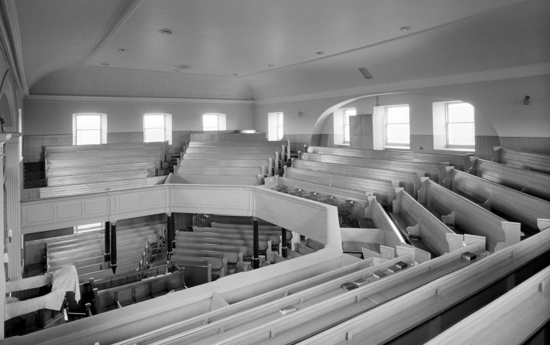 Campbeltown, Castlehill Church, interior. View of seating.