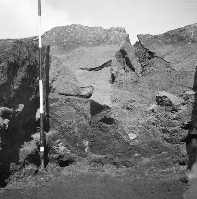 Excavation photograph. Cutting II. Outer Face. Cruden Bank.