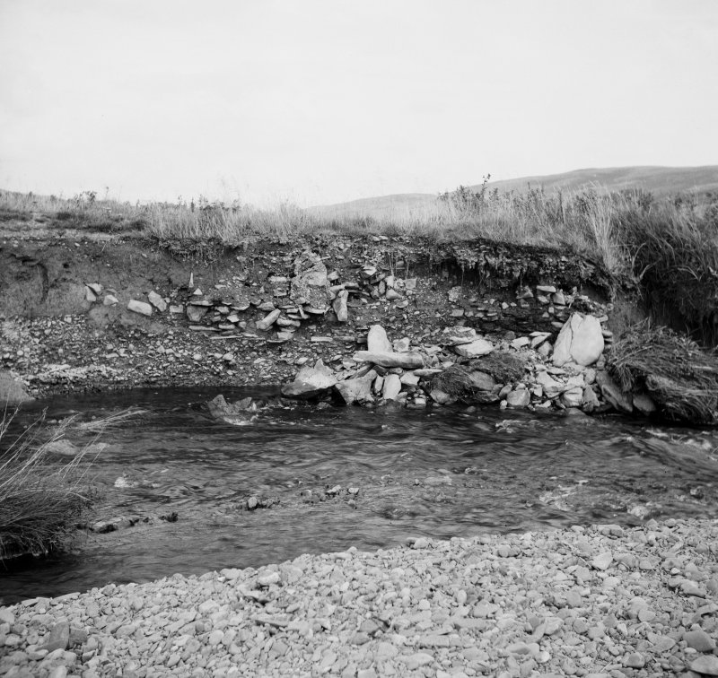 Road to Craik Cross exposed by Borthwock Water, showing remains of culvert