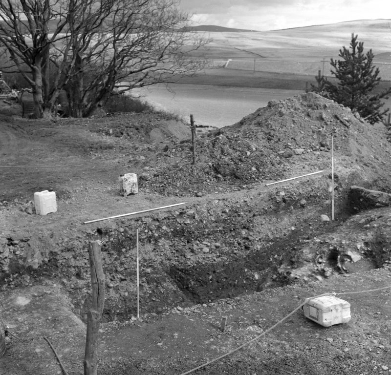 Excavation photograph - looking east.