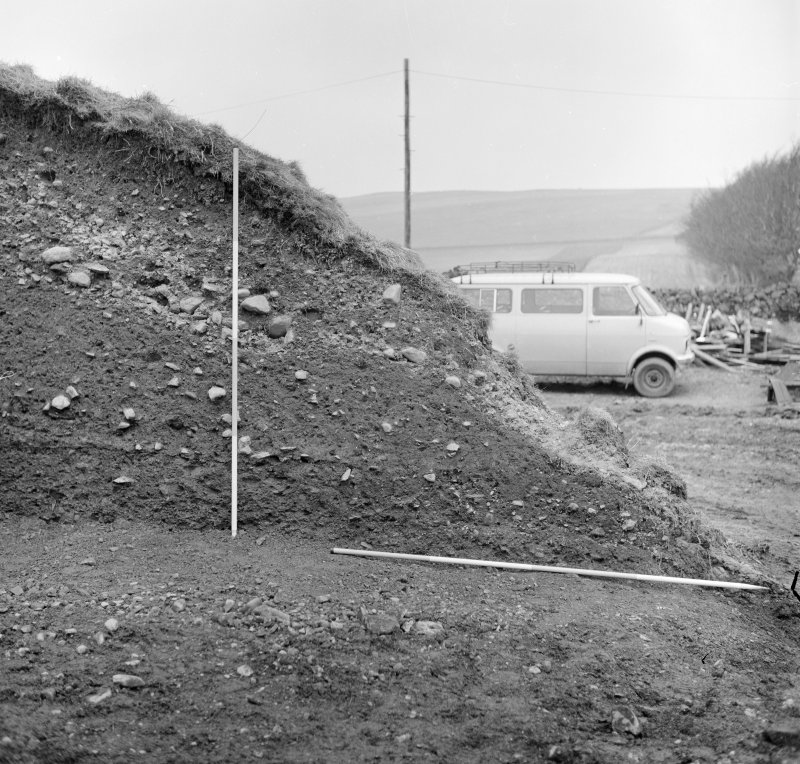Excavation photograph - west section, north segment.