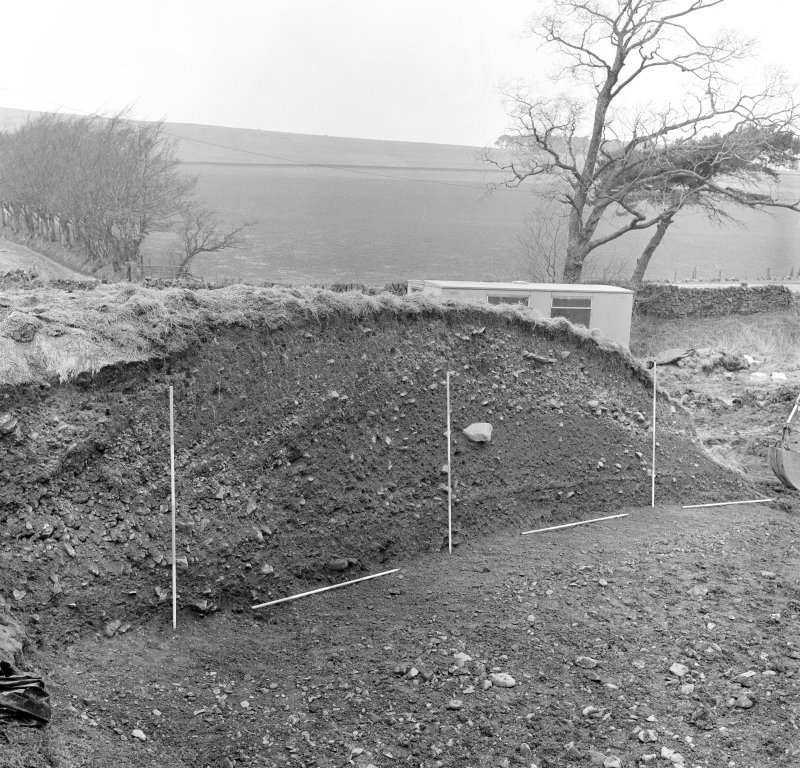 Excavation photograph - west section