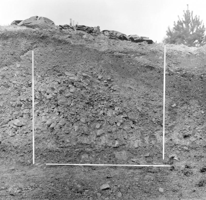 Excavation photograph - east section, south segment.
