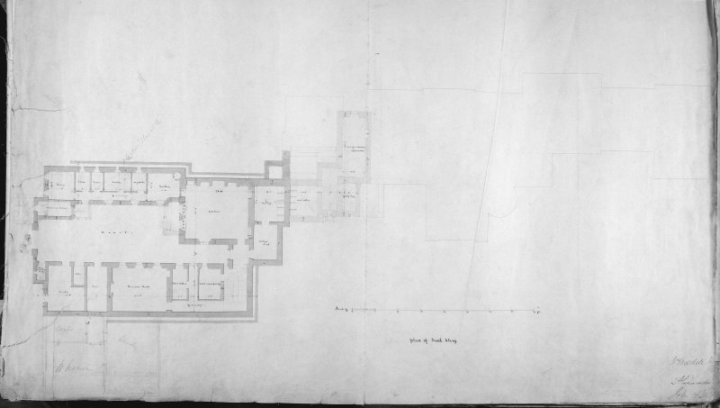 Plan of sunk storey