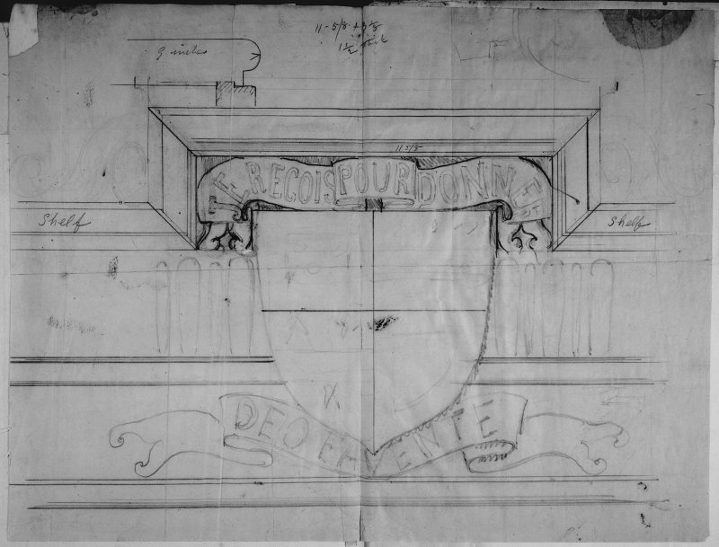 Drawing of heraldic panel
