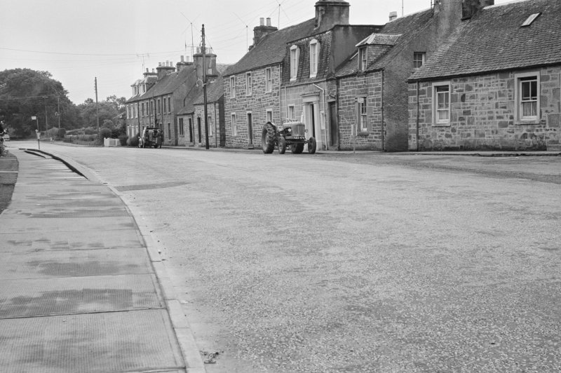 General view of houses on the south side of Willoughby Street, Muthill.