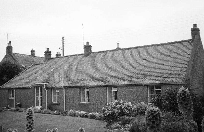 General view of rear of cottages.