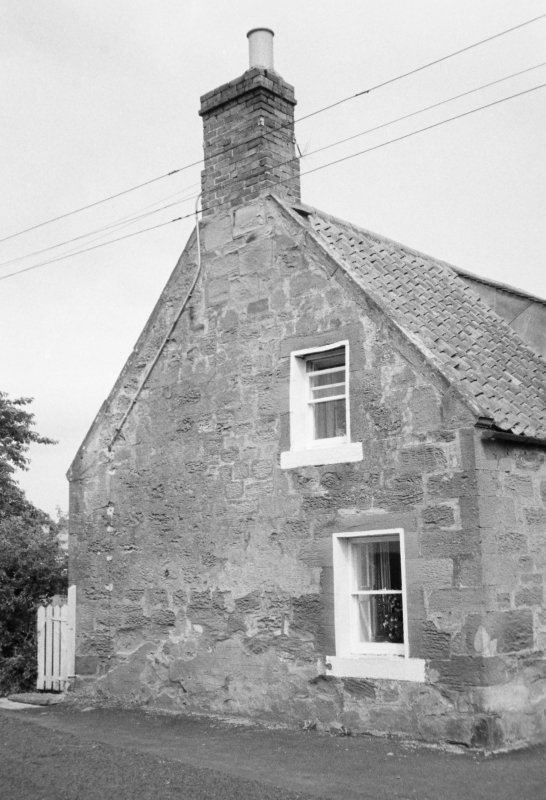 View of cottage gable end.