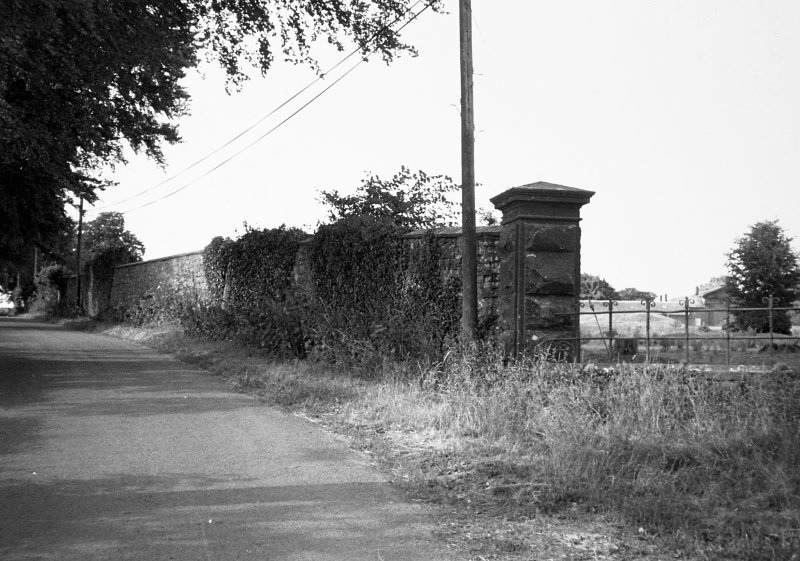 General view of estate boundary wall.