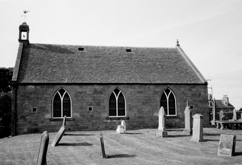 View of church and churchyard