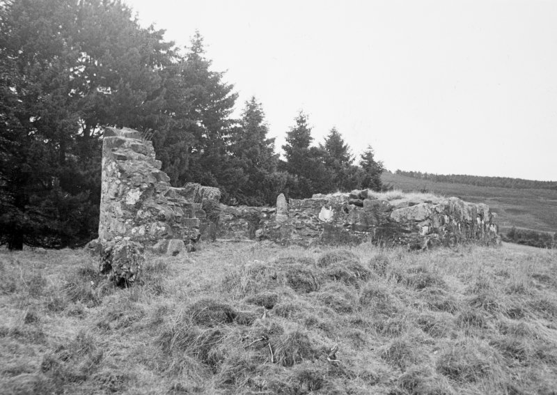 General view of ruined Gairn Castle.