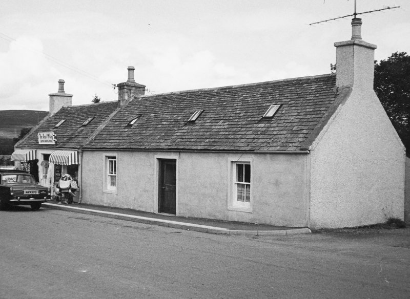 General view of shop and cottage.