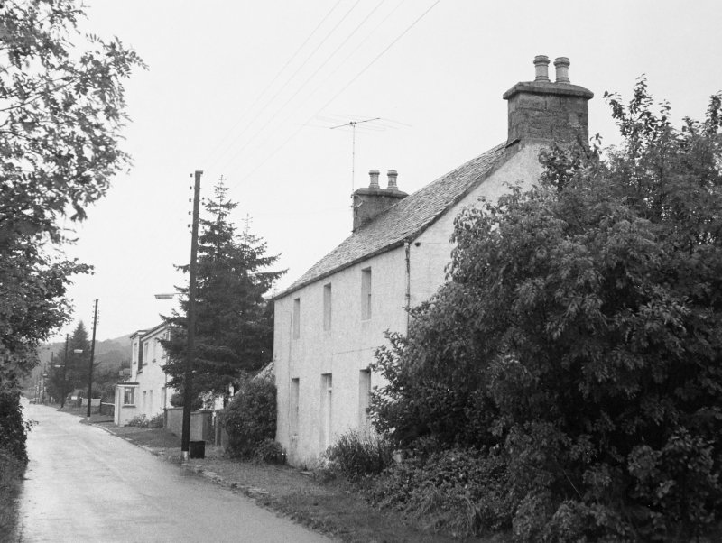 General view of unidentified cottages at south west end of village