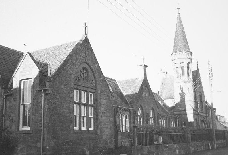 General view of Cromarty Primary School and School House