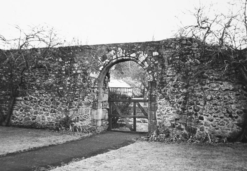 Addistoun House, walled garden View of gateway