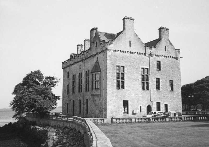 Barnbougle Castle. View from North West.
