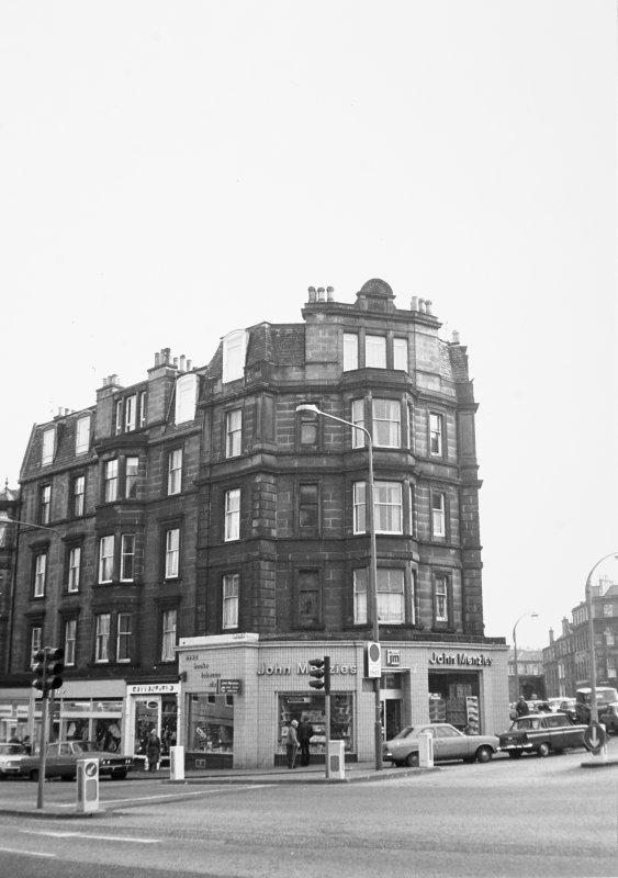 40 - 44 Elm Row and Montgomery Street General view, including John Menzies