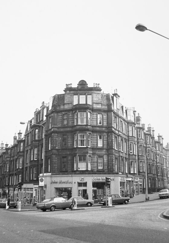 40 - 44 Elm Row and Montgomery Street General view including John Menzies