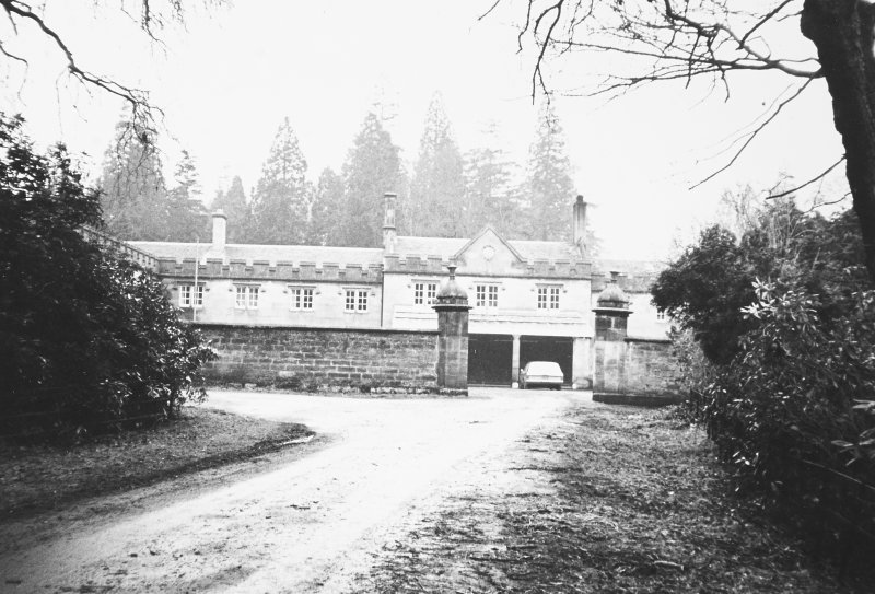 Dalmeny House, Stables. View from East.