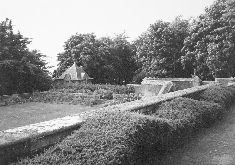 View of terrace garden and pavilion from NE.